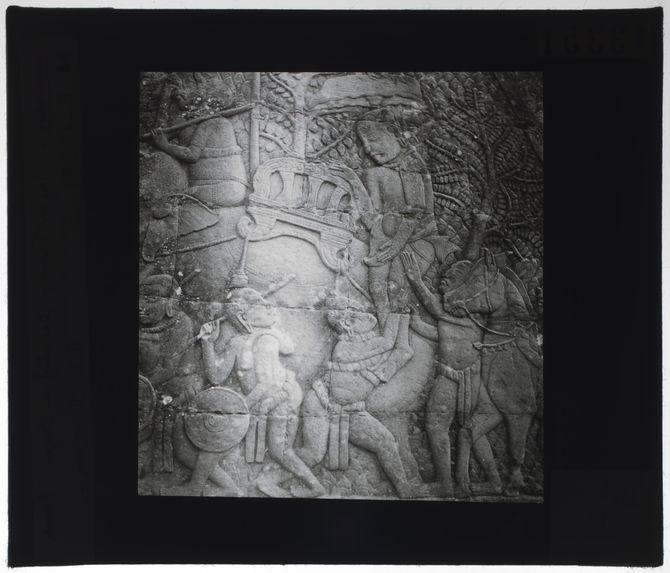 Bas-relief du Bayon. Convoi du prince