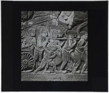 Bas-relief du Bayon. Frappeur de gong