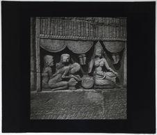 Bas-relief du Bayon. Massage (ou offrande)