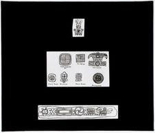 Hiéroglyphes provenant de divers sites archéologiques du Mexique