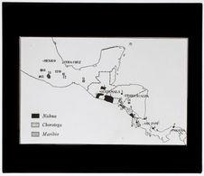 Amérique centrale. Familles linguisitiques [carte]