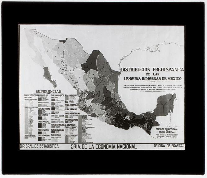 Carte linguistique du Mexique précolombien