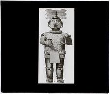 Statuette terre cuite représentant le Dieu Xipe Totec