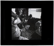 Chaamba et Touaregs jouant aux cartes