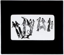 Groupe de femmes vêtues [peinture rupestre]