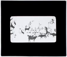 Peinture murale : scène de chasse