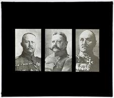 Les généraux Ludendorf, Hindenburg, Von Kluck
