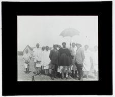 Le ras haïlu au camp de la mission Griaule