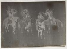 Peinture sur soie [cavaliers archers]