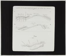 Coupes géologiques et plan du Dôme du Sehib