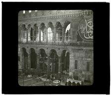 Constantinople. Intérieur de la mosquée de Sainte Sophie