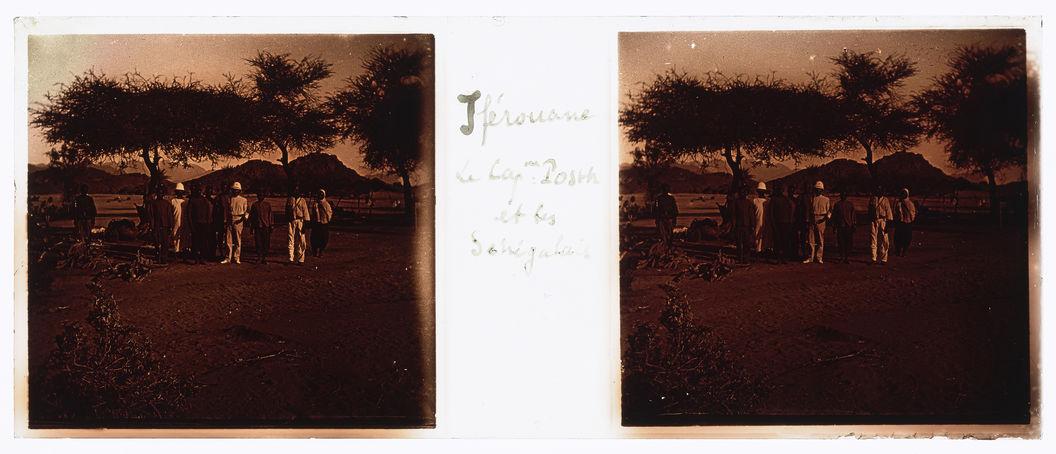 Iferouane. Le Cap. Posth et les Sénégalais