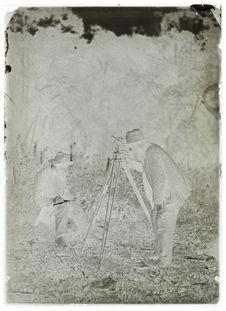Une observation au Théodolite, 17 août 1889