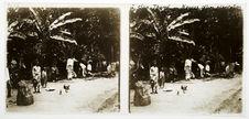 A San-Thomé, nègres d'une plantation
