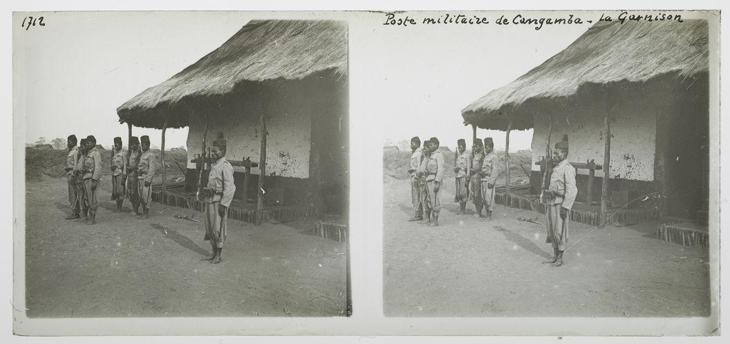 Poste militaire de Cangamba, la garnison