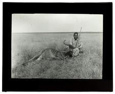 Le nègre Chicongo et un gnu